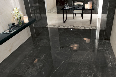 New Dark Veined Marble Porcelain Tiles Direct From Italy