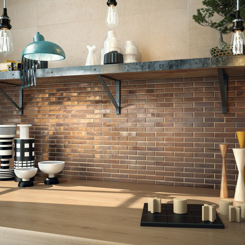 D Eternal Copper Brick Look Mosaic Tile Nerang Tiles